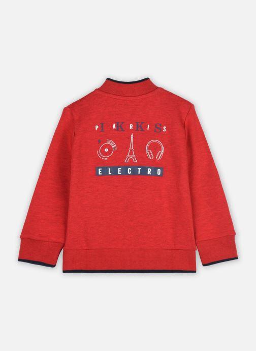Vêtements IKKS JUNIOR  Cardigan XR17023 Rouge vue portées chaussures