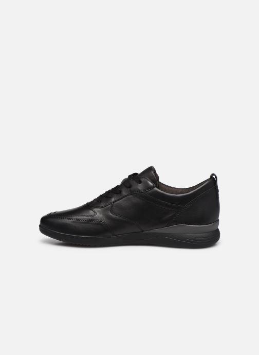 Sneaker Jana shoes Daniam schwarz ansicht von vorne