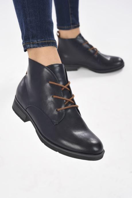 Stiefeletten & Boots Jana shoes India blau ansicht von unten / tasche getragen
