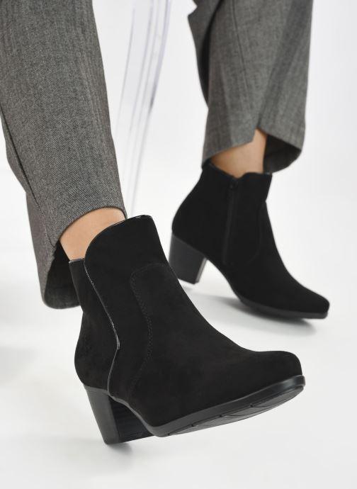 Botines  Jana shoes Dian Negro vista de abajo