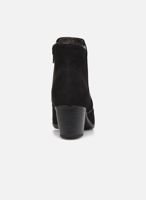 Botines  Jana shoes Dian Negro vista lateral derecha