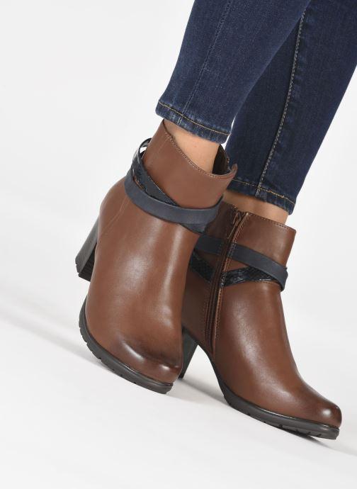 Botines  Jana shoes Meava Marrón vista de abajo