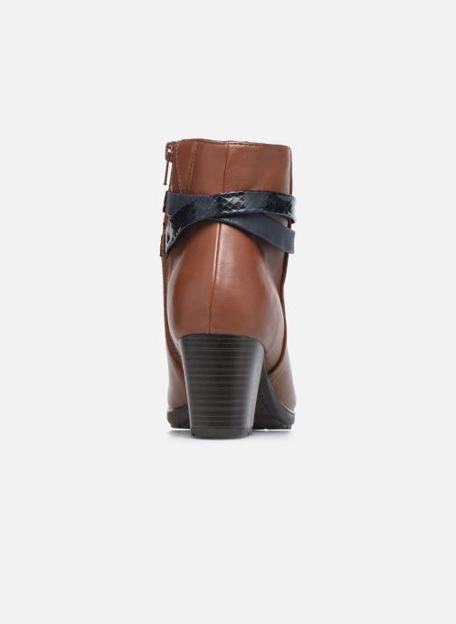 Botines  Jana shoes Meava Marrón vista lateral derecha