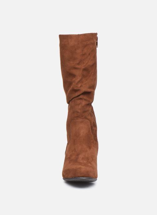 Bottes Jana shoes Paga Marron vue portées chaussures