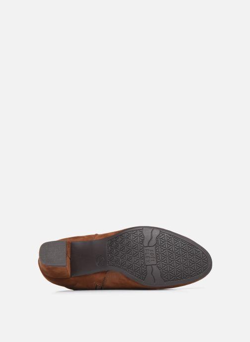 Bottes Jana shoes Paga Marron vue haut