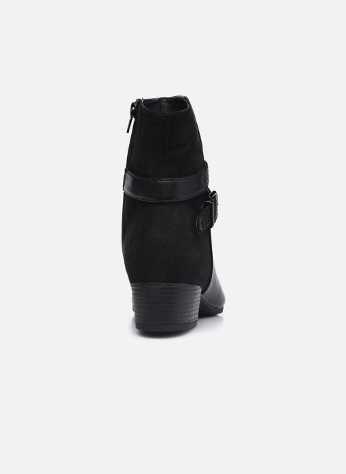 Botines  Jana shoes Manon Negro vista lateral derecha