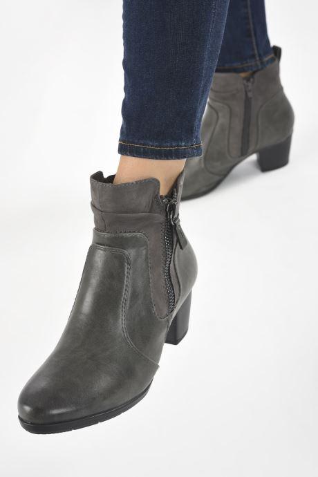 Bottines et boots Jana shoes Carlam Gris vue bas / vue portée sac