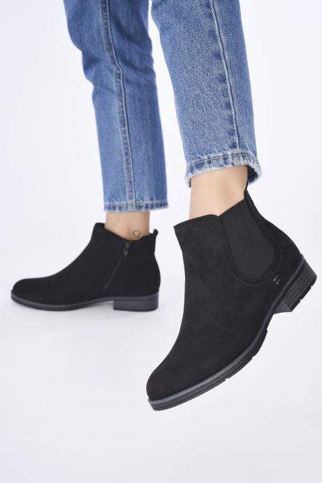 Stiefeletten & Boots Jana shoes Adele schwarz ansicht von unten / tasche getragen