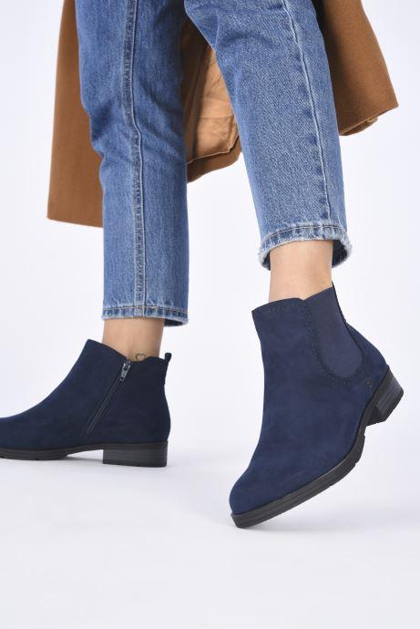 Bottines et boots Jana shoes Adele Bleu vue bas / vue portée sac