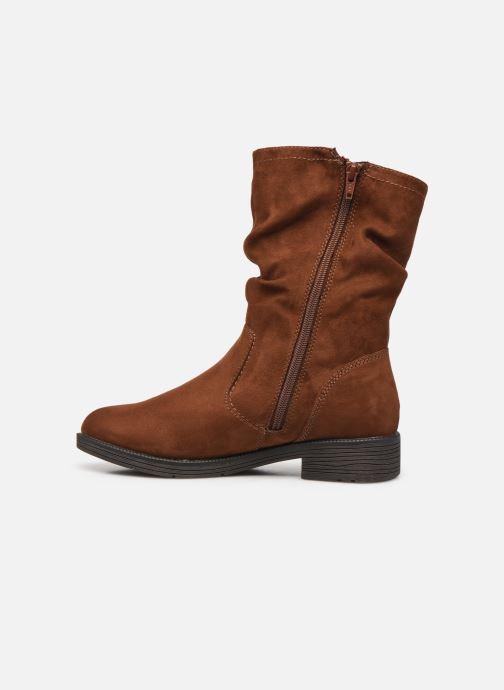 Boots en enkellaarsjes Jana shoes Anaka Bruin voorkant