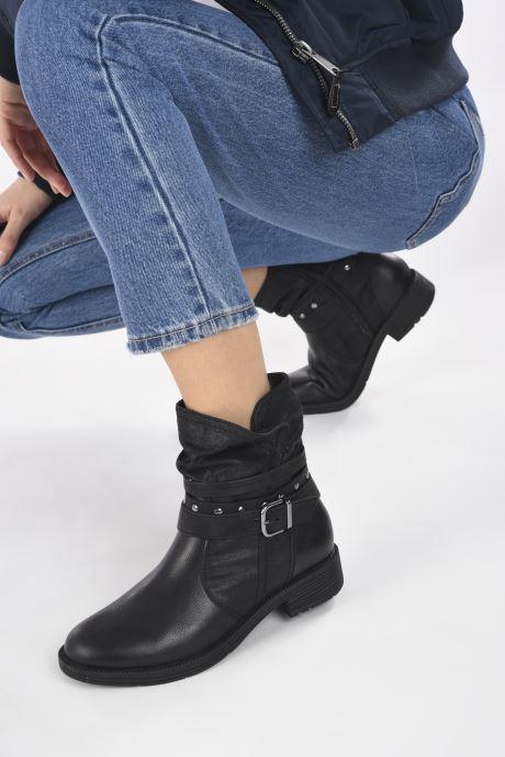 Bottines et boots Jana shoes Kasita Noir vue bas / vue portée sac