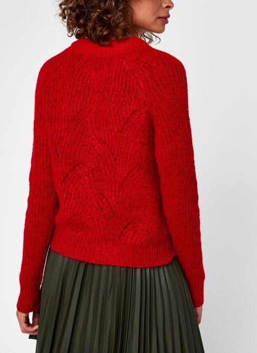 Vêtements Noisy May Nmeden O-Neck Knit Rouge vue portées chaussures