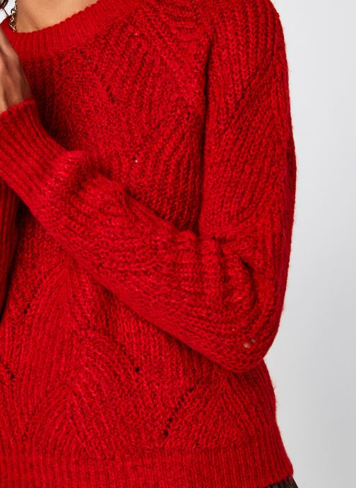 Vêtements Noisy May Nmeden O-Neck Knit Rouge vue face