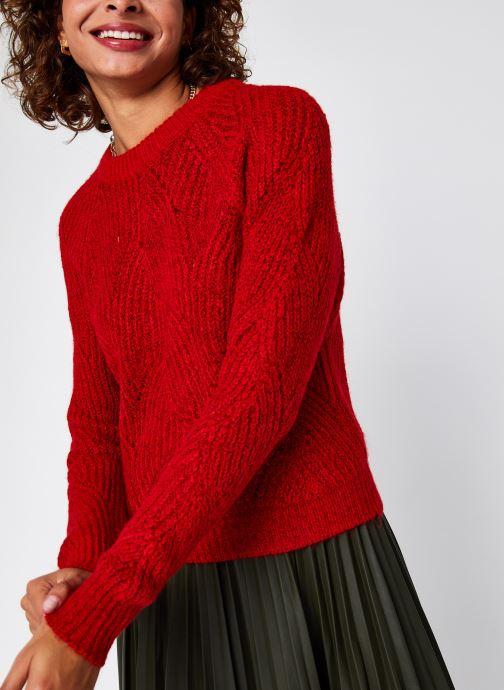 Vêtements Noisy May Nmeden O-Neck Knit Rouge vue droite