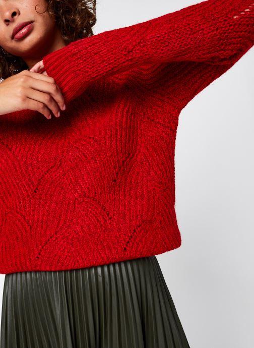 Vêtements Noisy May Nmeden O-Neck Knit Rouge vue détail/paire