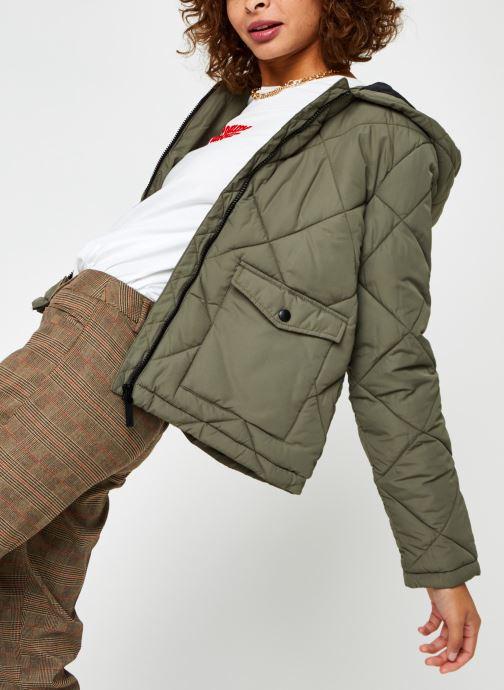 Vêtements Noisy May Nmfalcon Jacket Vert vue détail/paire
