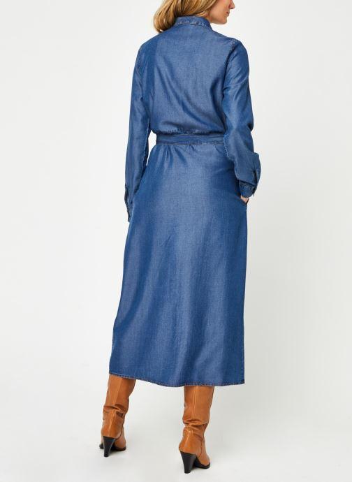 Vêtements Noisy May Nmcersei Belt Endi Dress Bleu vue portées chaussures