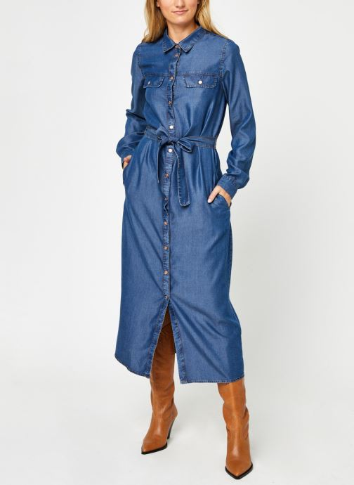 Vêtements Noisy May Nmcersei Belt Endi Dress Bleu vue droite