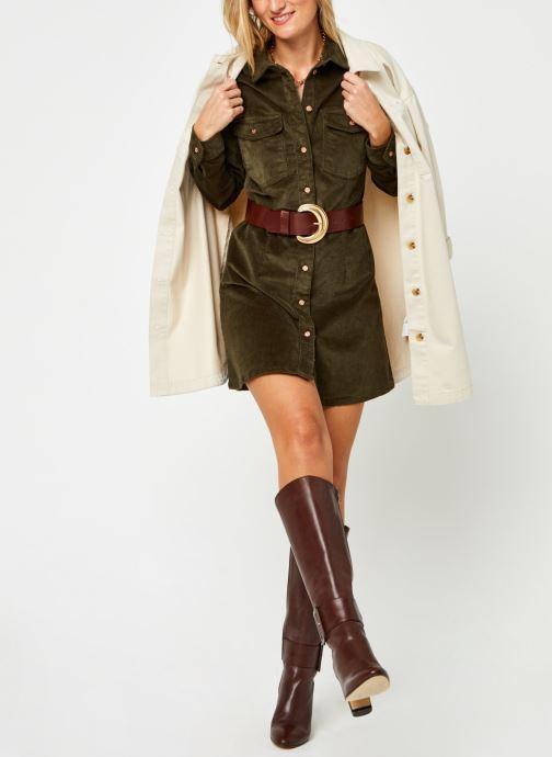Vêtements Noisy May Nmlisa Corduroy Button Dress Vert vue bas / vue portée sac