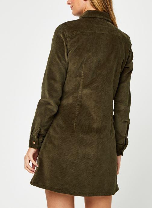 Vêtements Noisy May Nmlisa Corduroy Button Dress Vert vue portées chaussures