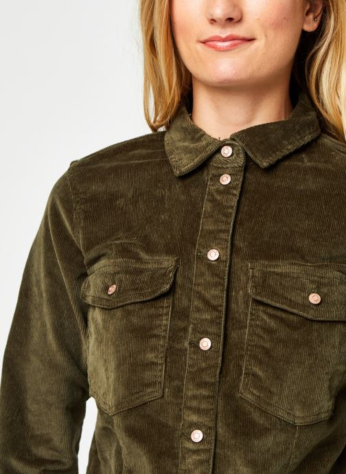 Vêtements Noisy May Nmlisa Corduroy Button Dress Vert vue face