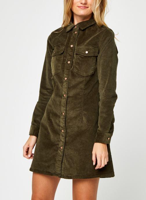 Vêtements Noisy May Nmlisa Corduroy Button Dress Vert vue droite