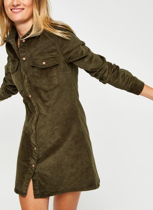 Vêtements Noisy May Nmlisa Corduroy Button Dress Vert vue détail/paire
