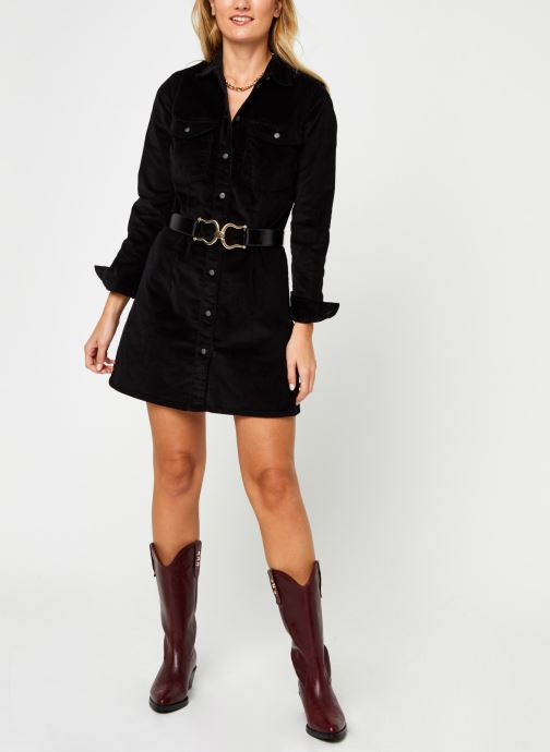 Vêtements Noisy May Nmlisa Corduroy Button Dress Noir vue bas / vue portée sac