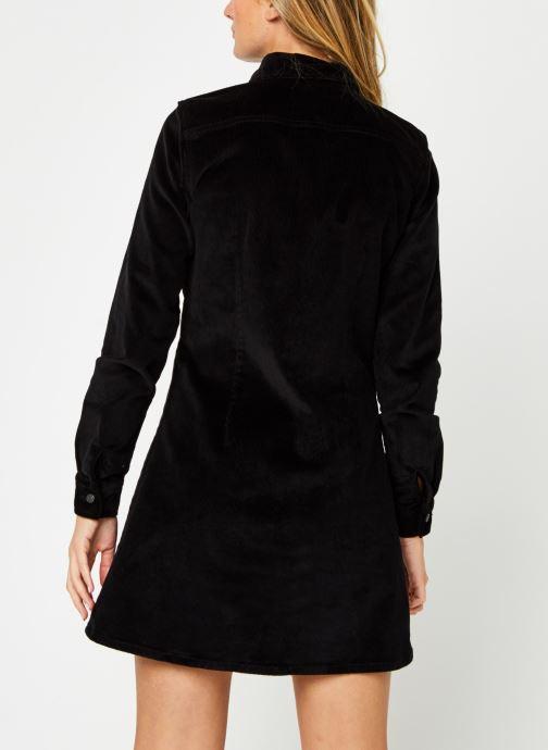 Vêtements Noisy May Nmlisa Corduroy Button Dress Noir vue portées chaussures