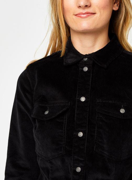 Vêtements Noisy May Nmlisa Corduroy Button Dress Noir vue face