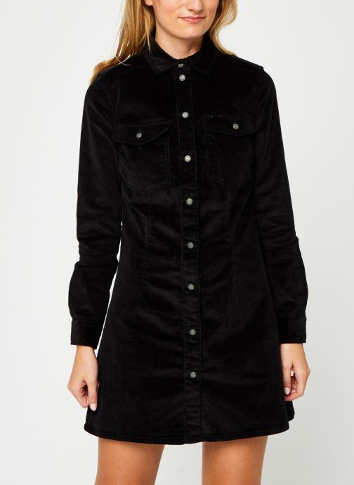 Vêtements Noisy May Nmlisa Corduroy Button Dress Noir vue droite