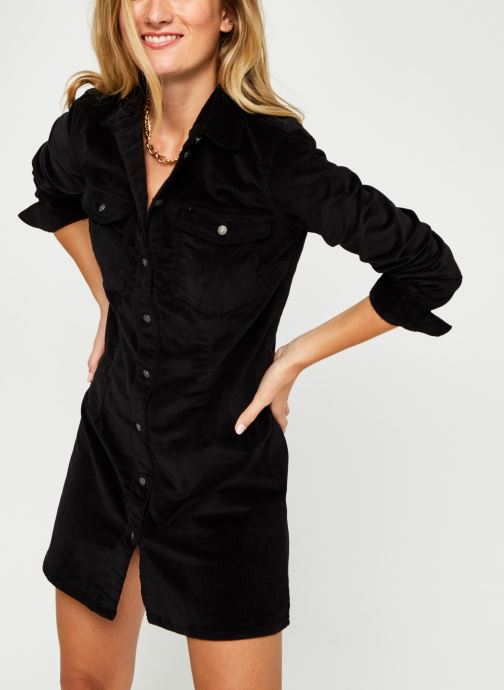 Vêtements Noisy May Nmlisa Corduroy Button Dress Noir vue détail/paire