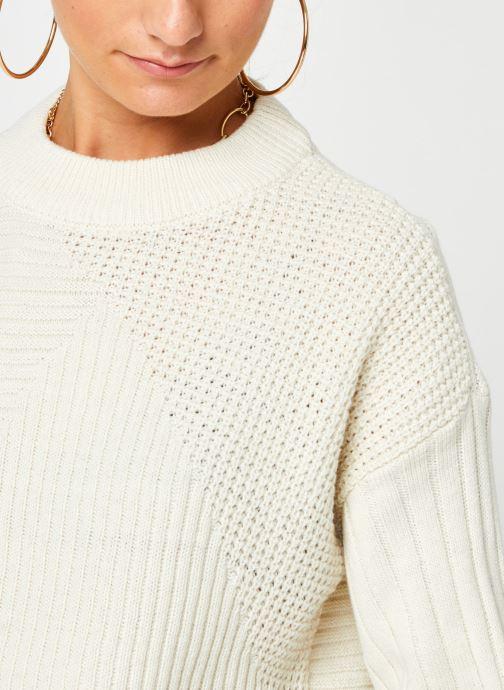 Vêtements Noisy May Nmdaryl O-Neck Knit Blanc vue face