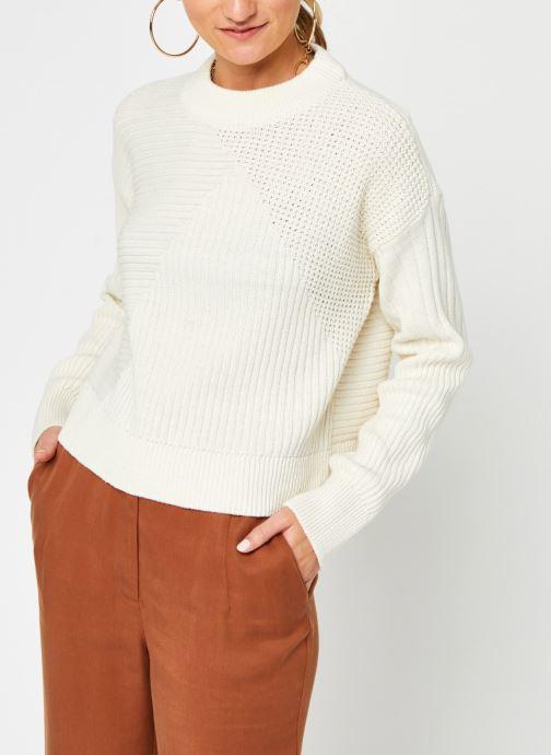 Vêtements Noisy May Nmdaryl O-Neck Knit Blanc vue droite