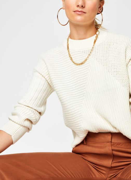 Vêtements Noisy May Nmdaryl O-Neck Knit Blanc vue détail/paire
