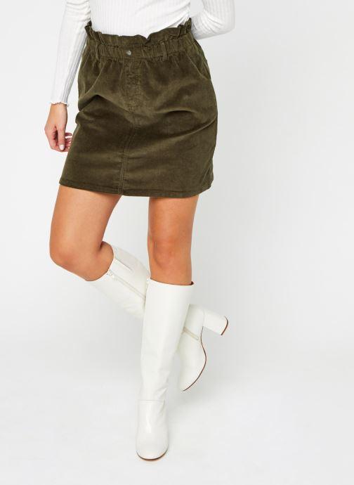 Kleding Noisy May Nmjudo Paperbag Corduroy Skirt Groen detail