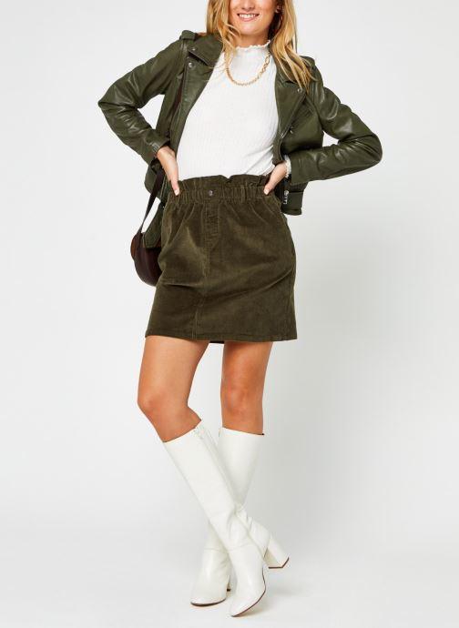 Vêtements Noisy May Nmberry High Neck Top Blanc vue bas / vue portée sac