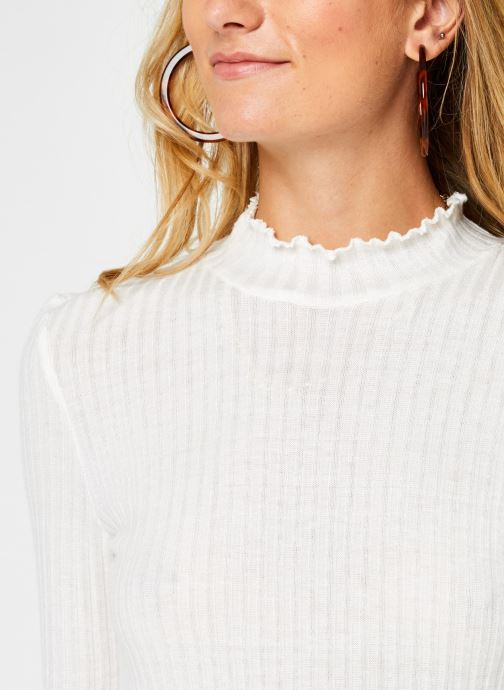 Vêtements Noisy May Nmberry High Neck Top Blanc vue face