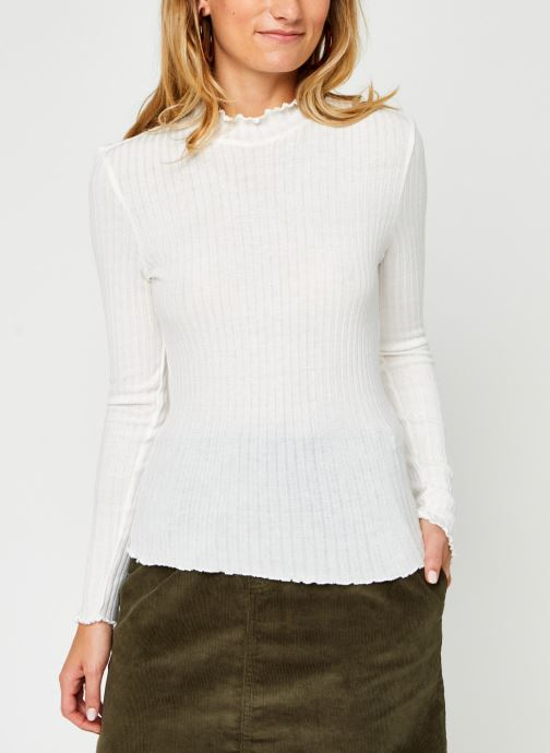 Vêtements Noisy May Nmberry High Neck Top Blanc vue droite