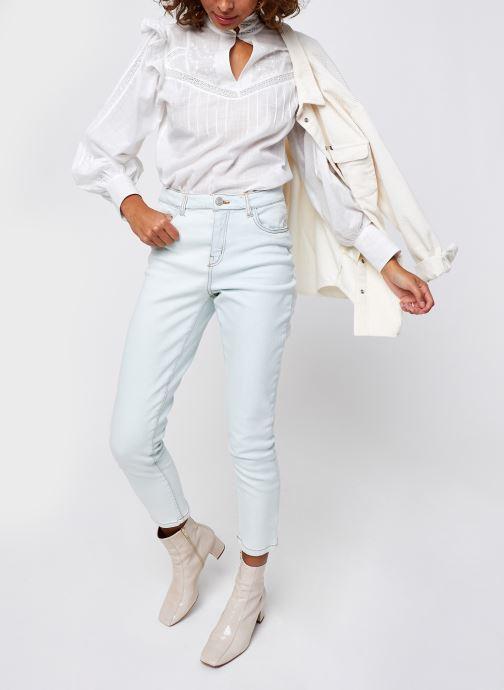 Vêtements Noisy May Nmolivia Straight Jeans Blanc vue bas / vue portée sac