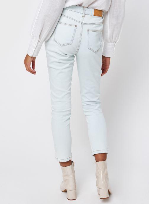 Vêtements Noisy May Nmolivia Straight Jeans Blanc vue portées chaussures