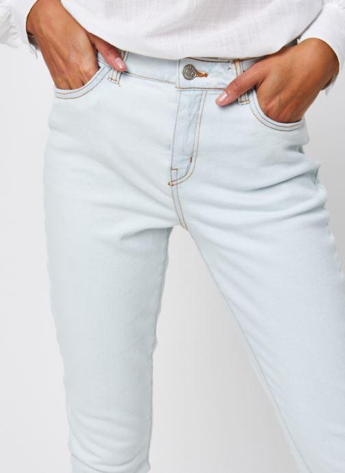 Vêtements Noisy May Nmolivia Straight Jeans Blanc vue face