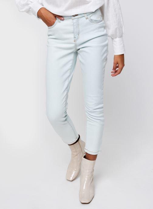 Vêtements Noisy May Nmolivia Straight Jeans Blanc vue détail/paire