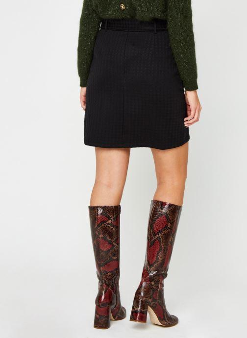 Vêtements Noisy May Nmhound Midi Skirt Noir vue portées chaussures