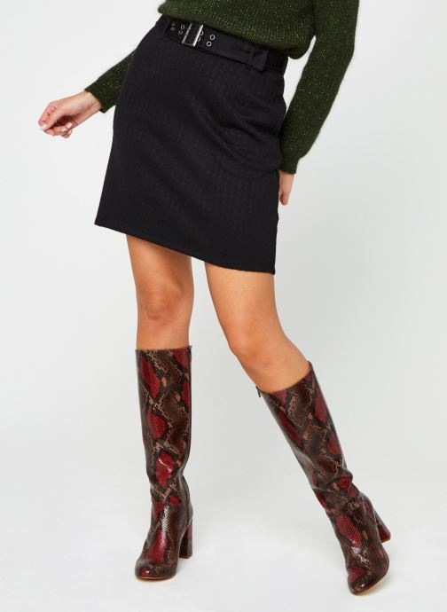 Vêtements Noisy May Nmhound Midi Skirt Noir vue détail/paire