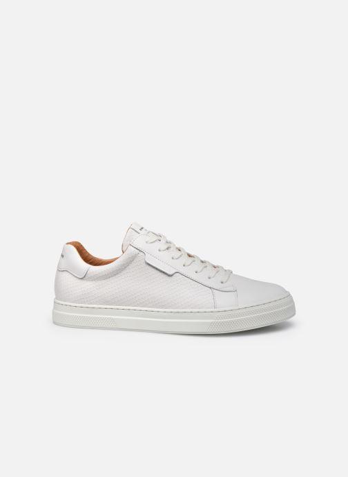 Sneaker Schmoove Spark Clay Nappa Print/Nappa weiß ansicht von hinten