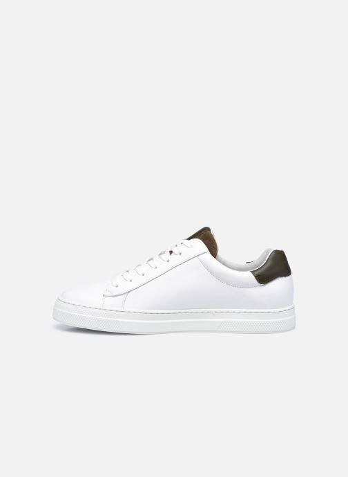 Sneaker Schmoove Spark Clay Nappa/Tong Nappa weiß ansicht von vorne