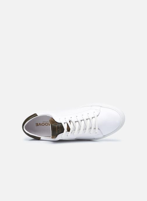 Sneaker Schmoove Spark Clay Nappa/Tong Nappa weiß ansicht von links