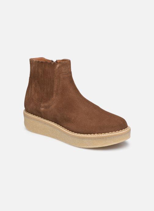 Bottines et boots Schmoove Woman Pallas Zip Beetle   Suede Marron vue détail/paire