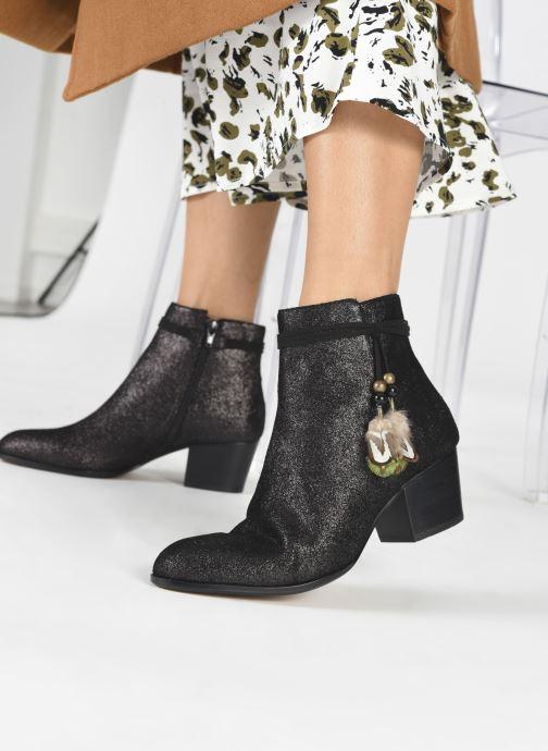 Bottines et boots Schmoove Woman Story Boots  Suede Metallic Noir vue bas / vue portée sac